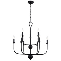 Quoizel BLA5027MBK Blanche 9 Light 27 inch Matte Black Chandelier Ceiling Light