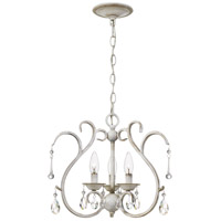 Quoizel BLC1716AWH Blanca 3 Light 17 inch Antique White Semi-Flush Mount Ceiling Light