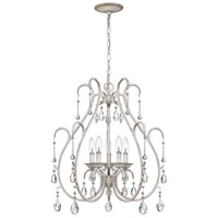 Blanca 5 Light 23 inch Antique White Mini Chandelier Ceiling Light