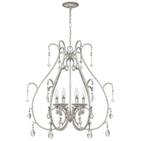 Blanca 6 Light 29 inch Antique White Chandelier Ceiling Light