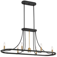 Quoizel BLD642DC Ballard 6 Light 42 inch Dark Cherry Island Chandelier Ceiling Light