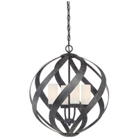Quoizel BMS2820OK Blacksmith 4 Light 20 inch Old Black Finish Pendant Ceiling Light