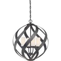 Quoizel BMS2820OK Blacksmith 4 Light 20 inch Old Black Finish Pendant Ceiling Light