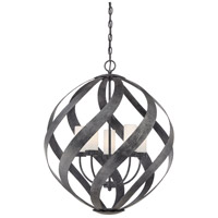 Blacksmith 5 Light 26 inch Old Black Finish Pendant Ceiling Light