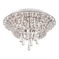 Quoizel Lighting Beaumont 9 Light Flush Mount in Polished Chrome BMT1617C