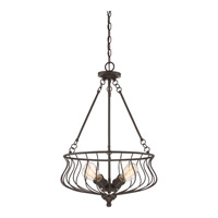 Baroness 4 Light 18 inch Western Bronze Pendant Ceiling Light