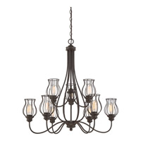 Baroness 9 Light 33 inch Western Bronze Foyer Chandelier Ceiling Light