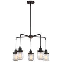 Quoizel BNT5005WT Belmont 5 Light 24 inch Western Bronze Chandelier Ceiling Light