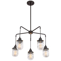 Quoizel BNT5005WT Belmont 5 Light 24 inch Western Bronze Chandelier Ceiling Light alternative photo thumbnail