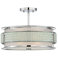 Boundary 3 Light 16 inch Polished Chrome Semi-Flush Mount Ceiling Light