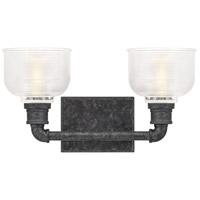 Quoizel BOO8616OK Boomer 2 Light 16 inch Old Black Bath Light Wall Light