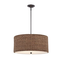 Quoizel Lighting Bradbury 4 Light Pendant in Mystic Black BRB2822K