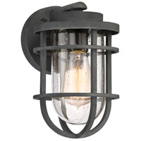 Quoizel BRD8406MB Boardwalk 1 Light 10 inch Mottled Black Outdoor Wall Lantern