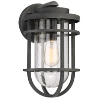 Quoizel BRD8408MB Boardwalk 1 Light 14 inch Mottled Black Outdoor Wall Lantern