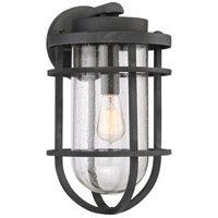 Boardwalk 1 Light 17 inch Mottled Black Outdoor Wall Lantern