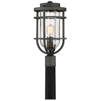 Boardwalk 1 Light 19 inch Mottled Black Outdoor Post Lantern