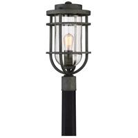 Quoizel BRD9010MB Boardwalk 1 Light 19 inch Mottled Black Outdoor Post Lantern
