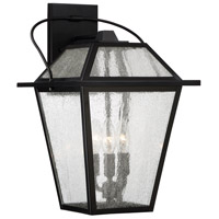 Black Ridge 3 Light 17 inch Mystic Black Outdoor Wall Lantern