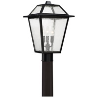 Black Ridge 3 Light 17 inch Mystic Black Outdoor Post Lantern
