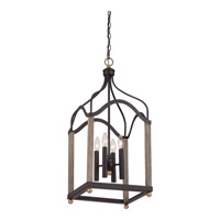 Quoizel Bordergate 4 Light Chandelier in Western Bronze BRG5204WT