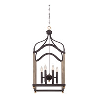 Quoizel Bordergate 6 Light Chandelier in Western Bronze BRG5206WT