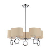 Quoizel Lighting Brock 5 Light Chandelier in Polished Chrome BRK5005C