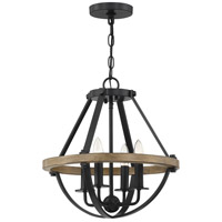 Quoizel BRL1716EK Bartlett 4 Light 16 inch Earth Black Semi-Flush Mount Ceiling Light