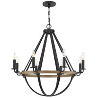 Quoizel BRL5008EK Bartlett 8 Light 30 inch Earth Black Chandelier Ceiling Light
