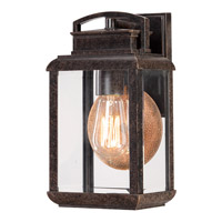 Quoizel Byron 1 Light Outdoor Wall Lantern in Imperial Bronze BRN8406IBFL