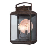 Quoizel Byron 2 Light Outdoor Wall Lantern in Imperial Bronze BRN8412IBFL