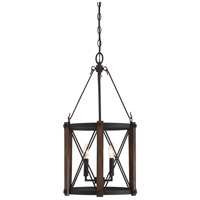 Baron 3 Light 15 inch Marcado Black Foyer Piece Ceiling Light