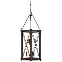Quoizel Baron 6 Light Foyer Piece in Marcado Black BRO5204MK