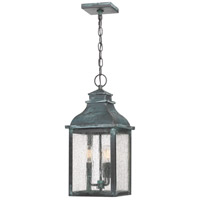 Quoizel BRS1909AGV Branson 3 Light 9 inch Aged Verde Outdoor Hanging Lantern