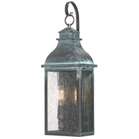 Quoizel BRS8407AGV Branson 2 Light 20 inch Aged Verde Outdoor Wall Lantern