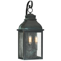 Quoizel BRS8409AGV Branson 3 Light 25 inch Aged Verde Outdoor Wall Lantern