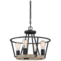 Quoizel BRT1717GK Brockton 4 Light 18 inch Grey Ash Semi-Flush Mount Ceiling Light