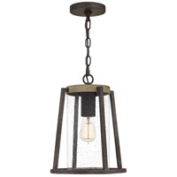 Quoizel BRT1911RK Brockton 1 Light 11 inch Rustic Black Outdoor Hanging Lantern