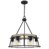 Quoizel BRT3525GK Brockton 6 Light 25 inch Grey Ash Chandelier Ceiling Light