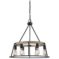 Quoizel BRT5006GK Brockton 6 Light 25 inch Grey Ash Chandelier Ceiling Light