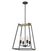 Brockton 4 Light 17 inch Grey Ash Foyer Chandelier Ceiling Light
