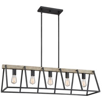 Quoizel BRT542GK Brockton 5 Light 42 inch Grey Ash Island Chandelier Ceiling Light