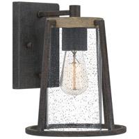 Quoizel BRT8408RK Brockton 1 Light 11 inch Rustic Black Outdoor Wall Lantern