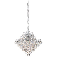 Quoizel BRX1512C Bordeaux 4 Light 12 inch Polished Chrome Mini Pendant Ceiling Light