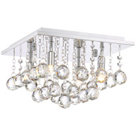 Bordeaux 4 Light 12 inch Polished Chrome Flush Mount Ceiling Light
