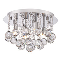Quoizel Lighting Bordeaux 4 Light Flush Mount in Polished Chrome BRX1612C