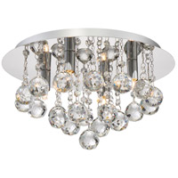 Bordeaux 4 Light 14 inch Polished Chrome Flush Mount Ceiling Light