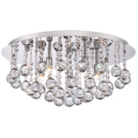 Quoizel Lighting Bordeaux 5 Light Flush Mount in Polished Chrome BRX1619C