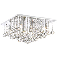 Bordeaux 6 Light 20 inch Polished Chrome Flush Mount Ceiling Light