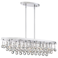 Bordeaux 5 Light 36 inch Polished Chrome Island Chandelier Ceiling Light