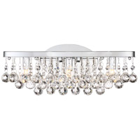 Bordeaux 3 Light 17 inch Polished Chrome Bath Light Wall Light, Large